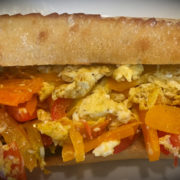 Peppers and Eggs Sandwich